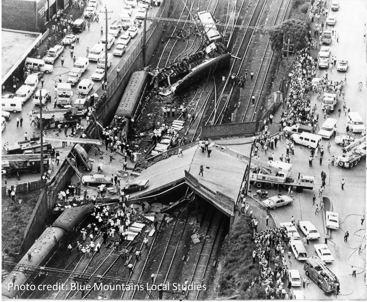 Photo of Granville Rail Disaster, Australia, January 1977