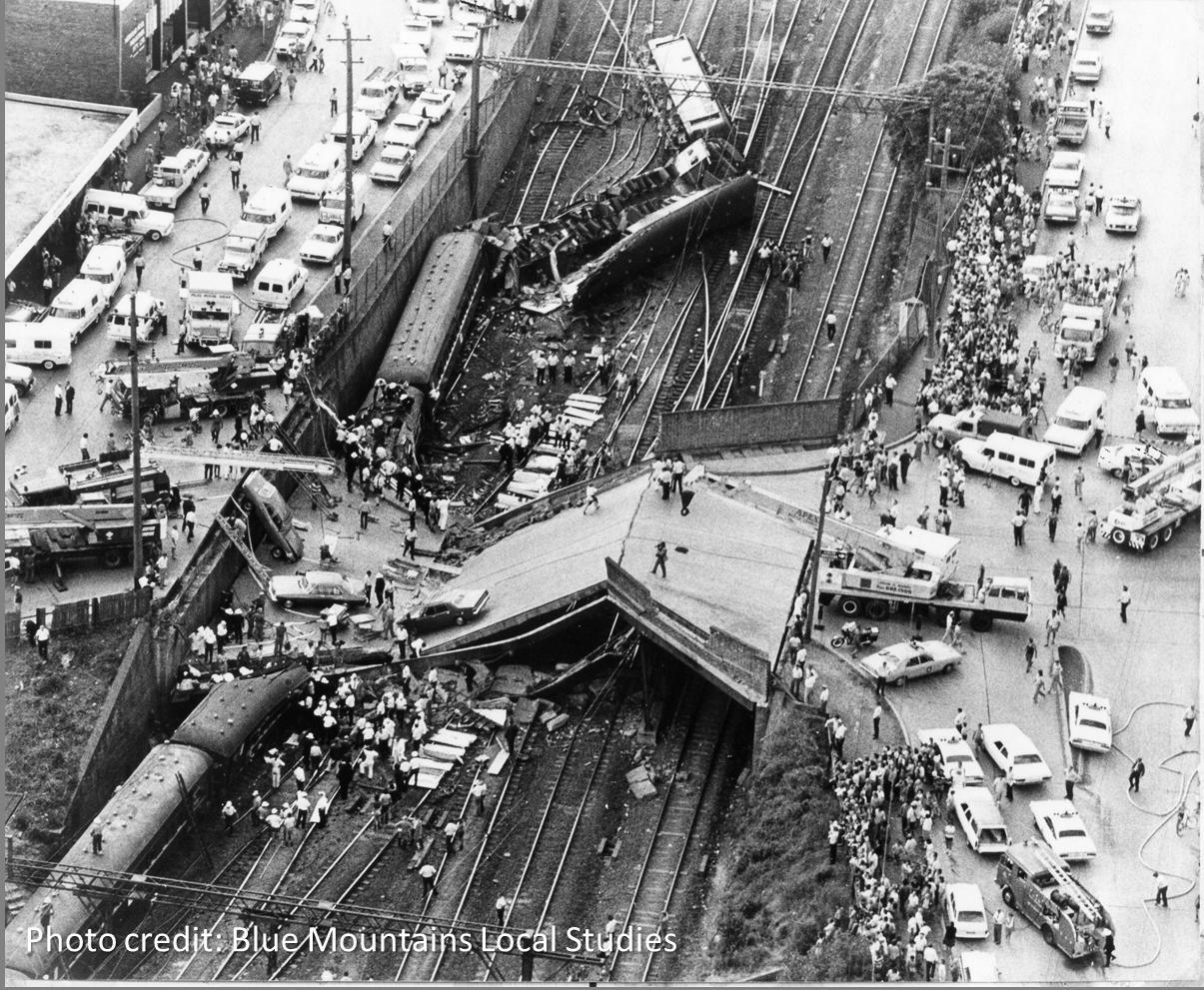 Photo of Granville Rail Disaster, Australia, January 1977