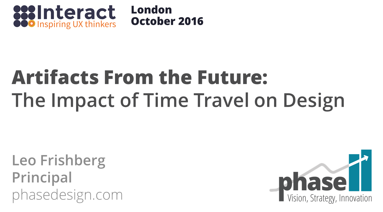 Frontispiece to InteractLondon16 keynote address
